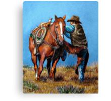 """Cowboy Up"" Canvas Print"