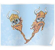 V is for Viking Beards of Valhalla Poster