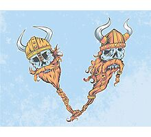 V is for Viking Beards of Valhalla Photographic Print