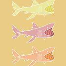 Basking Sharks Warm by nimbusnought