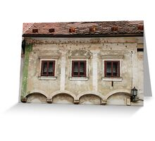 Historic Building in Skofja Loka 5 Greeting Card