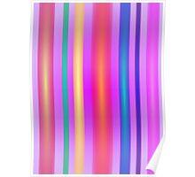 Stripes Art Lavender Poster