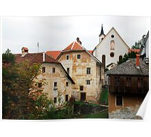 Capuchin Church and Foreground Buildings 1 Poster