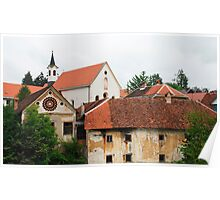 Capuchin Church and Foreground Buildings 2 Poster