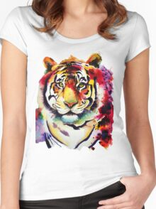 The big Tiger Women's Fitted Scoop T-Shirt