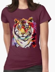 The big Tiger Womens Fitted T-Shirt