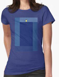 Minimalist TARDIS Womens Fitted T-Shirt