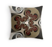Unraveling the Illusion Throw Pillow