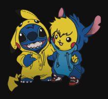 Pikachu & Stitch  by Edward Martinez