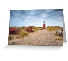 """Lighthouse """"Red Cliff"""" (Kampen/Sylt) Greeting Card"""