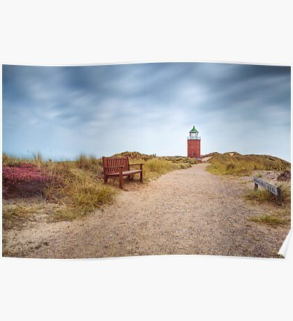 "Lighthouse ""Red Cliff"" (Kampen/Sylt) Poster"