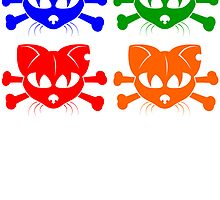 Cat And Crossbones Pop Art by kwg2200