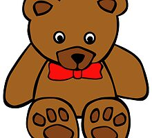Teddy Bear Red Bowtie by kwg2200