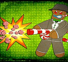 Gingerbread Gangster by MSRowe Art and Design