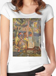 Representation of My Inner World Women's Fitted Scoop T-Shirt