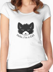 Hello, I'm a Cat! Women's Fitted Scoop T-Shirt