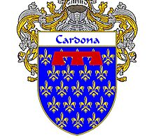 Cardona Coat of Arms/Family Crest by William Martin