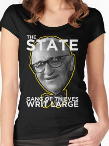 Murray Rothbard State is a Gang of Thieves Women's Fitted Scoop T-Shirt