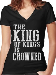 The King Of Kings Women's Fitted V-Neck T-Shirt