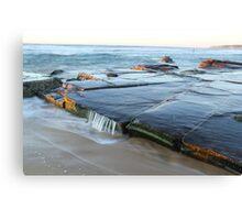 rock platform at Bar beach Canvas Print