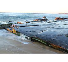 rock platform at Bar beach Photographic Print