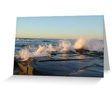 crashing waves at Bar beach Newcastle  Greeting Card