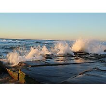 crashing waves at Bar beach Newcastle  Photographic Print