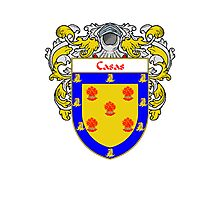 Casas Coat of Arms/Family Crest Photographic Print