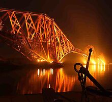 Forth Rail Bridge from N. Queensferry by Pat Millar