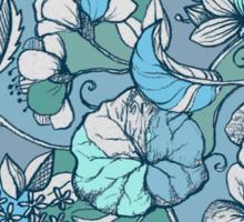 Her Garden in Blue Sticker