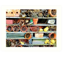 Heartbreak at the Insect Hotel.... Art Print