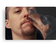 Canine Kiss Metal Print