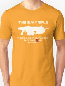 Rifleman's Creed - Gears of War Edition - White Unisex T-Shirt