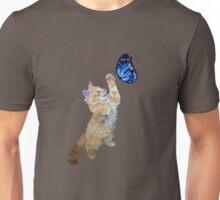 Kitten hunts butterfly Unisex T-Shirt