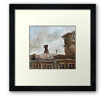 Stone and sky Framed Print