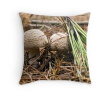 Fungi Hunt Throw Pillow