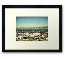 Looming L.A. Framed Print