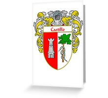 Castillo Coat of Arms/Family Crest Greeting Card
