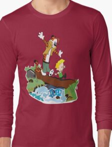 Calvin and Hobbes Street Fighter Long Sleeve T-Shirt