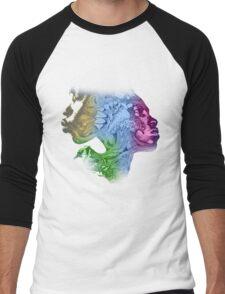 Creative art T-Shirt Men's Baseball ¾ T-Shirt