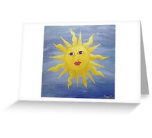 Whimsical Sun Greeting Card