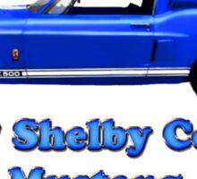 1967  Shelby Cobra  Mustang GT 500 (t-shirt) Sticker