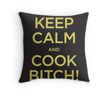 Keep Calm and Cook B! Throw Pillow