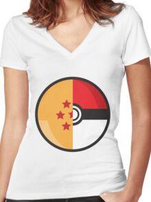 PokeDragonBall Women's Fitted V-Neck T-Shirt