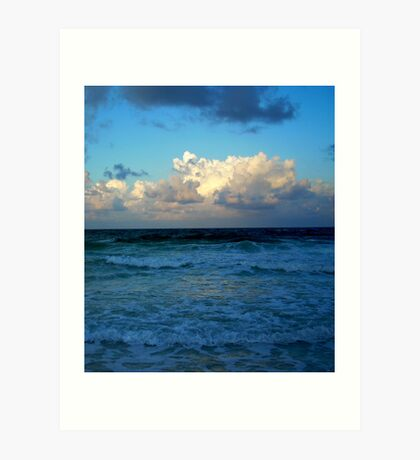 Gulf of Mexico in Green Art Print
