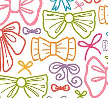 Colorful bows pattern by oksancia