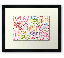 Colorful bows pattern Framed Print
