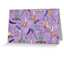 Yoga poses pattern Greeting Card