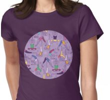 Yoga poses pattern Womens Fitted T-Shirt