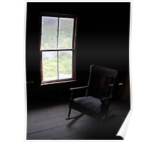 Empty Chair in Attic Poster